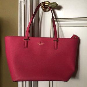 Coral pink Kate Spade tote bag